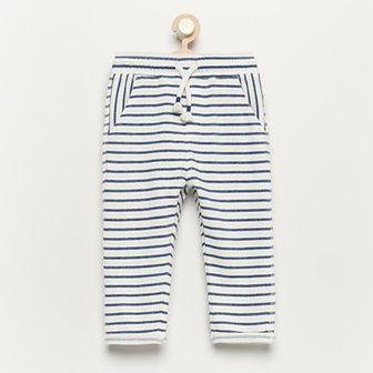 Reserved - Spodnie dresowe z bawełny organicznej - Kremowy