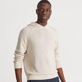 Reserved - Sweter z kapturem - Beżowy