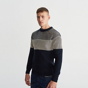 Reserved - Sweter - Granatowy