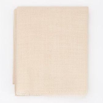 Reserved - Wełniany szalik - Beżowy