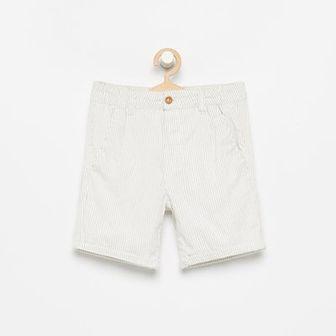 Reserved - Prążkowane szorty - Biały