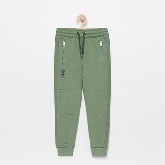 Reserved - Spodnie dresowe z bawełny organicznej - Zielony