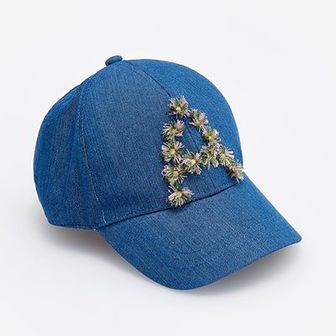 Reserved - Jeansowa czapka z daszkiem - Granatowy