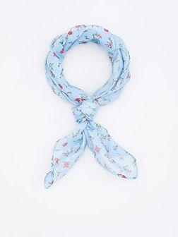 Reserved - Apaszka w kwiatki - Niebieski