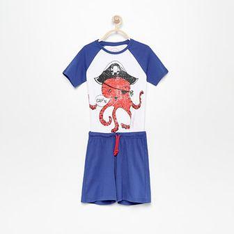 Reserved - Piżama z szortami - Biały