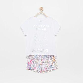 Reserved - Piżama z szortami My Little Pony - Biały