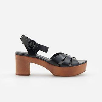 Reserved - Sandały na platformie - Czarny