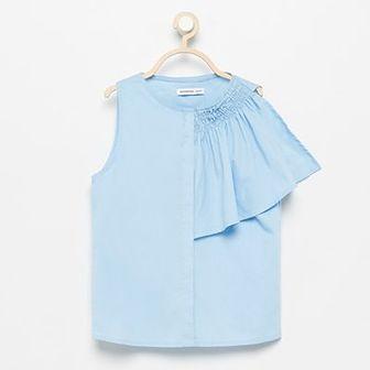 Reserved - Asymetryczna bluzka - Niebieski