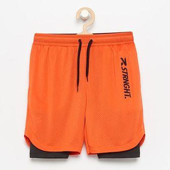 Reserved - Sportowe szorty Be Active - Pomarańczowy