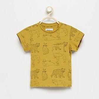 Reserved - T-shirt z bawełny organicznej - Żółty