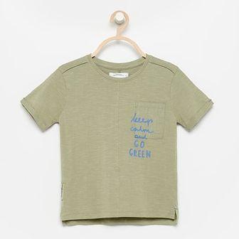 Reserved - T-shirt z kieszonką - Zielony