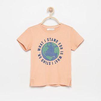 Reserved - T-shirt z bawełny organicznej - Pomarańczowy