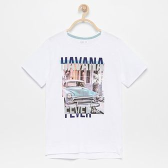 Reserved - T-shirt z nadrukiem - Biały