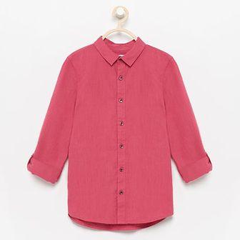 Reserved - Koszula z podwijanymi rękawami - Różowy