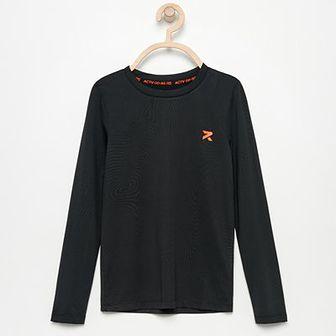Reserved - Koszulka z delikatnym wzorem Be Active - Czarny
