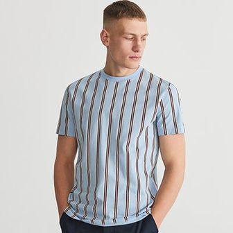 Reserved - T-shirt w paski - Niebieski