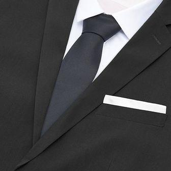 Reserved - Krawat i poszetka - Czarny