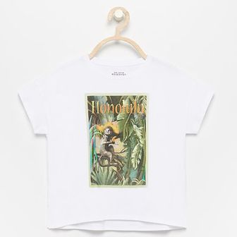 Reserved - T-shirt oversize - Biały