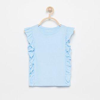 Reserved - Bluzka z bawełny organicznej - Niebieski