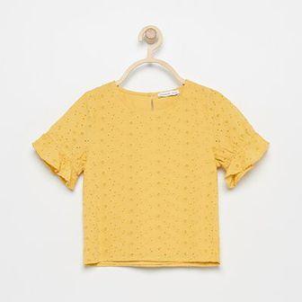 Reserved - Ażurowa bluzka - Żółty