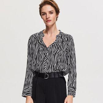 Reserved - Spodnie z kantem - Czarny