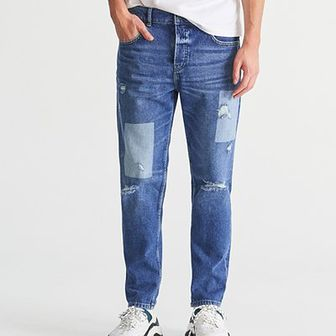 Reserved - Jeansy tapered fit - Niebieski