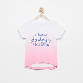 Reserved - T-shirt z napisem - Różowy