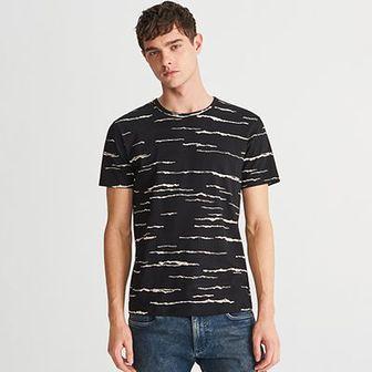 Reserved - T-shirt z printem - Czarny