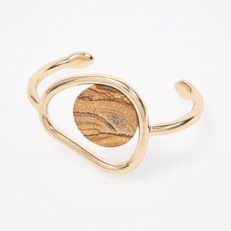 Reserved - Bransoletka z jaspisem - Złoty