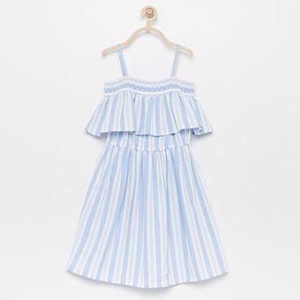 Reserved - Sukienka z bawełny organicznej - Niebieski