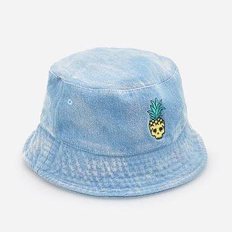 Reserved - Jeansowy kapelusz - Niebieski
