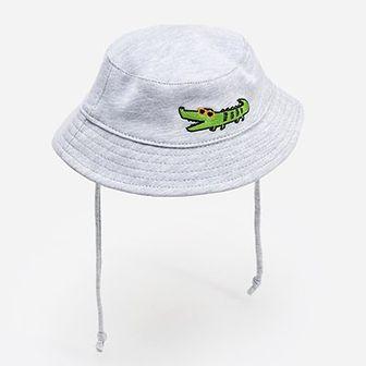 Reserved - Dzianinowy kapelusz ze sznurkami - Jasny szary