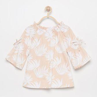 Reserved - Bluzka w liście - Biały
