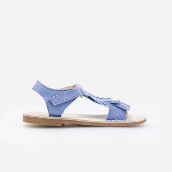 Reserved - Skórzane sandały - Niebieski