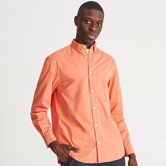 Reserved - Gładka koszula comfort fit - Pomarańczowy