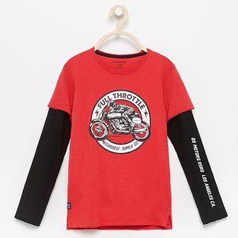 Reserved - Koszulka z motocyklowym nadrukiem - Czerwony