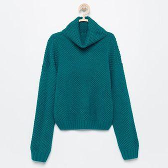 Reserved - Sweter z golfem - Zielony