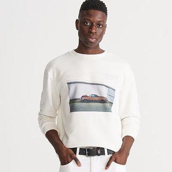 Reserved - Bluza z nadrukiem - Biały