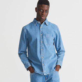 Reserved - Jeansowa koszula - Niebieski