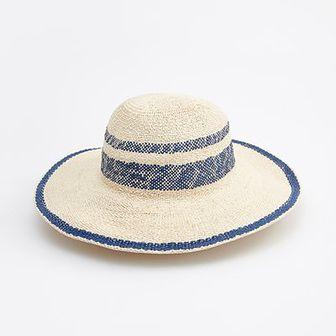 Reserved - Pleciony kapelusz - Beżowy