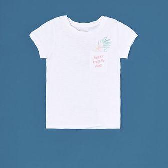 Reserved - T-shirt z kieszonką - Biały