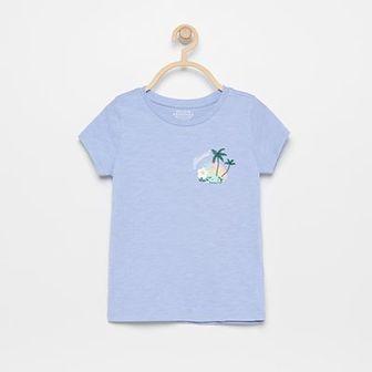 Reserved - T-shirt z naftem - Niebieski
