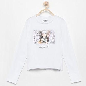 Reserved - Koszulka ze zmieniającym się obrazkiem - Biały