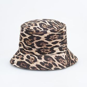 Reserved - Kapelusz bucket hat w panterkę - Brązowy