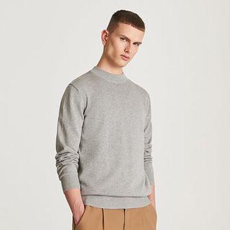 Reserved - Gładki sweter - Jasny szary