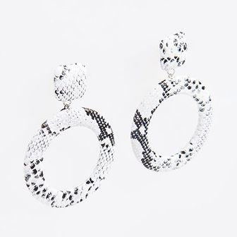 Reserved - Kolczyki z motywem zwierzęcym - Biały