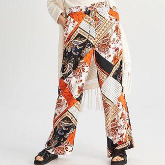 Reserved - Szerokie spodnie - Pomarańczo