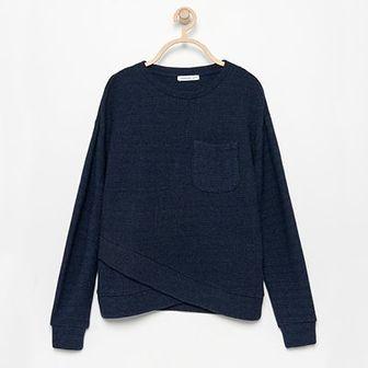 Reserved - Dzianinowa bluzka - Granatowy