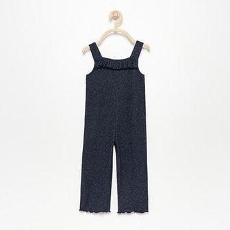 Reserved - Dzianinowe spodnie ogrodniczki - Granatowy