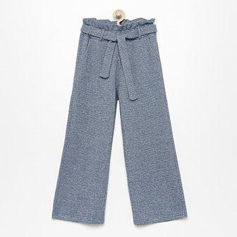 Reserved - Dzianinowe spodnie z błyszczącym włóknem - Niebieski